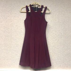Rebecca Taylor Maroon Dress